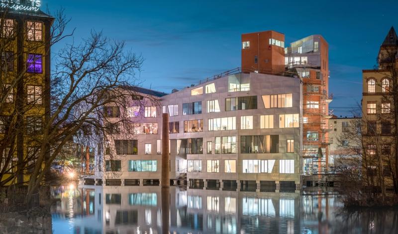 Projektet vid Strömmen i centrala Norrköping. Foto Mattias Lindh.