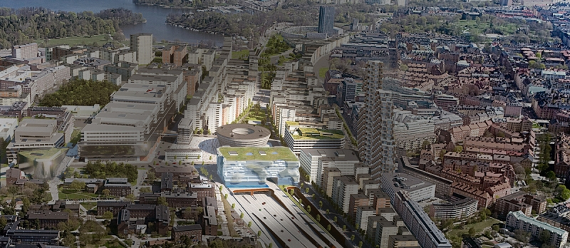Så här är det tänkt att Hagastaden ska se ut när stadsdelen är färdigutvecklad. Illustration: ON Arkitekter