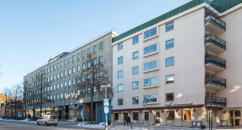Vy från från St Olofsgatan.