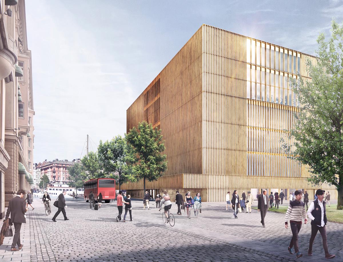 Bild från Hovslagargatan. Illustration: David Chipperfield Architects.
