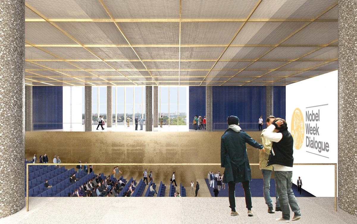 Det stora auditoriet. Illustration: David Chipperfield Architects.