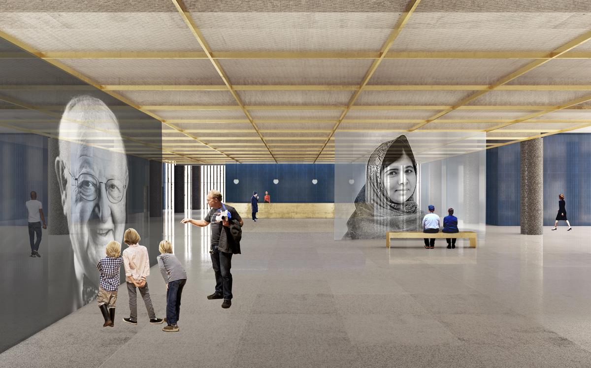 80 procent av ytan i huset blir publik och tillgänglig för allmänheten. Illustration: David Chipperfield Architects.