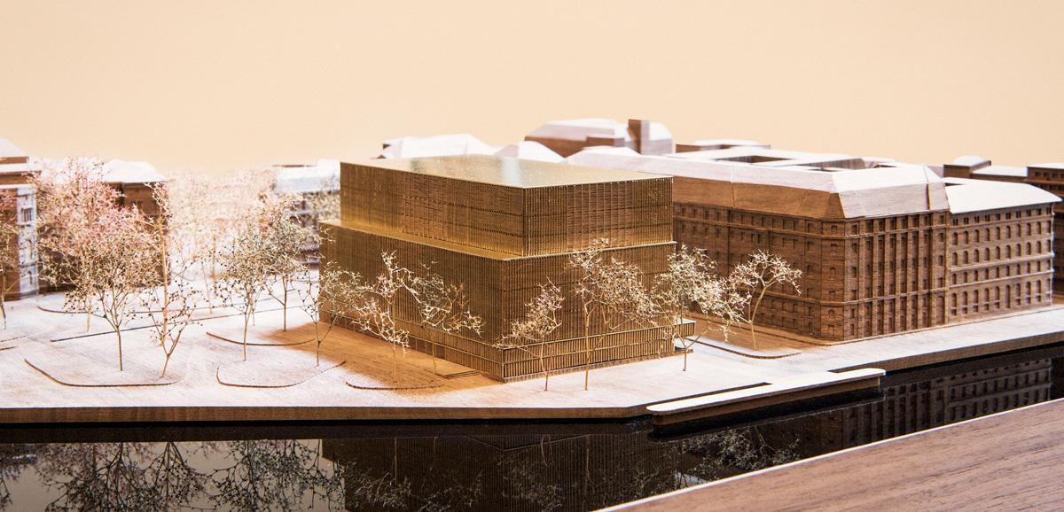 Modell av Nobel Center. Foto: Anders J Larsson.
