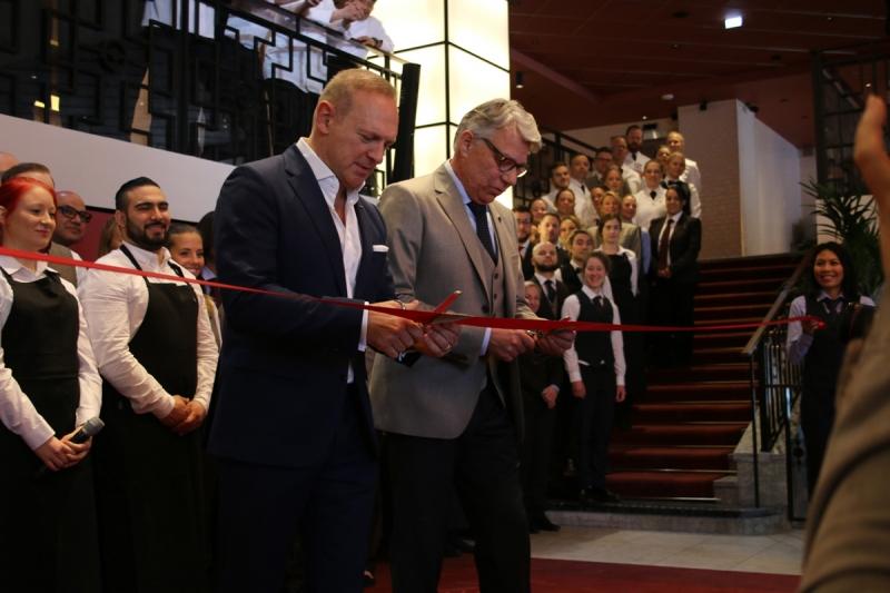 Scandics VD Frank Fiskers invigde under tisdagsmorgonen hotellet Haymarket i PUB-huset vid Hötorget.