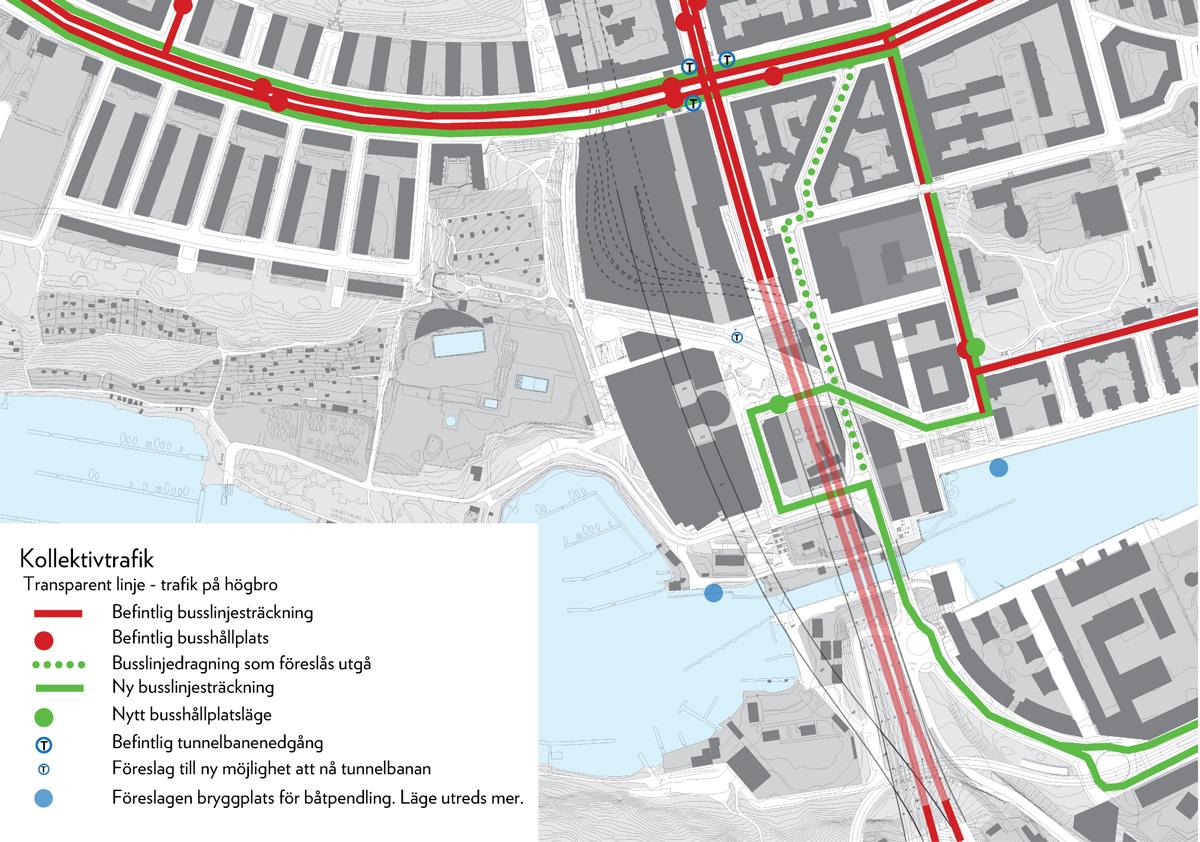 Stockholm stad skissar på en ny förbindelsegång till tunnelbanestationen Skanstull, från nordvästra hörnet av Eriksdalsbadet. Gången ska i så fall byggas via den fastighet där Åhléns är hyresgäst (och där det finns en t-banenedgång).