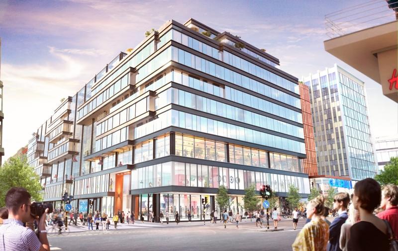 Så här ska den nya byggnaden se ut när den står klar 2019.