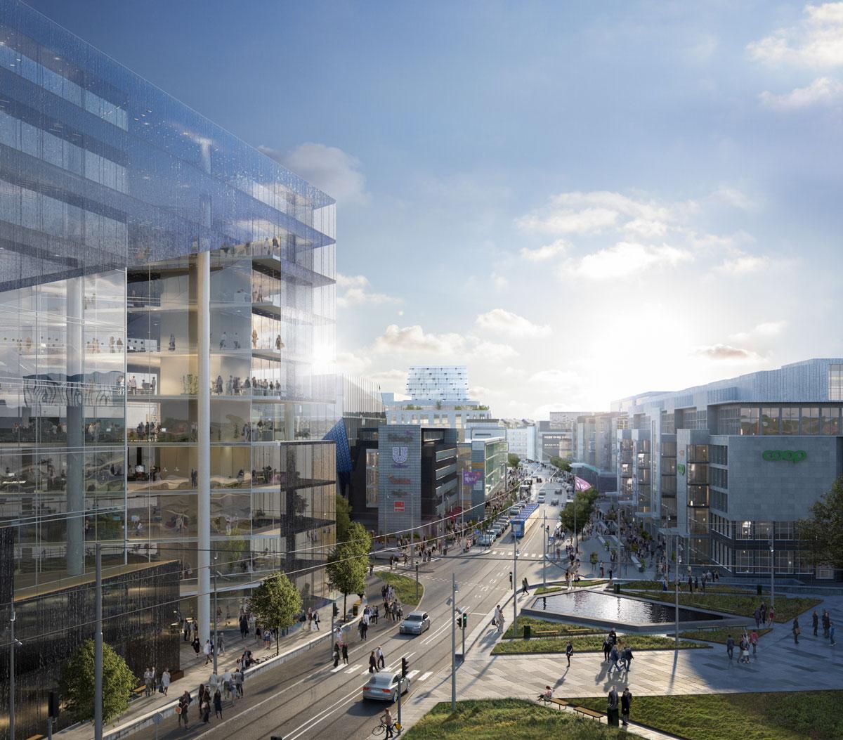 Vy över Solna Business Park.