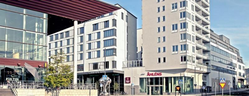 Fastigheten Hunden 15 i Luleå har bland annat Åhléns som hyresgäst. Från den fastigheten har tidigare en hotelldel styckats av till Hilding Holmqvist.