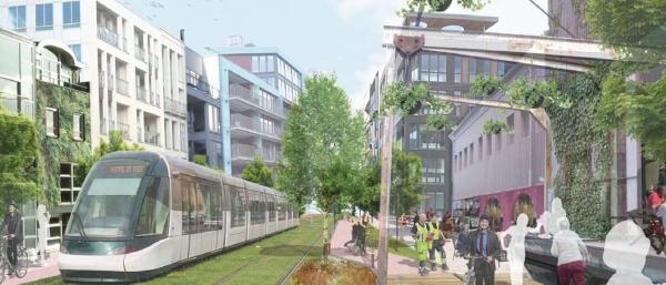 Kommunens vision över Öresundsvägen i västra Lund.