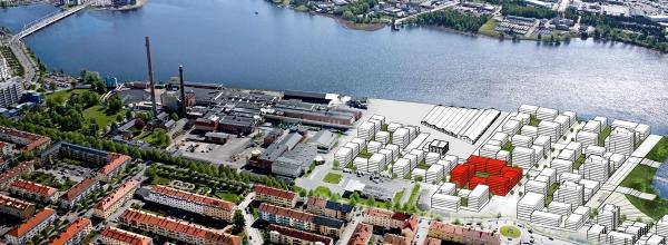 Tosito planerar bygga cirka 150 bostadsrätter i stadsdelen Munksjöstaden i Jönköping