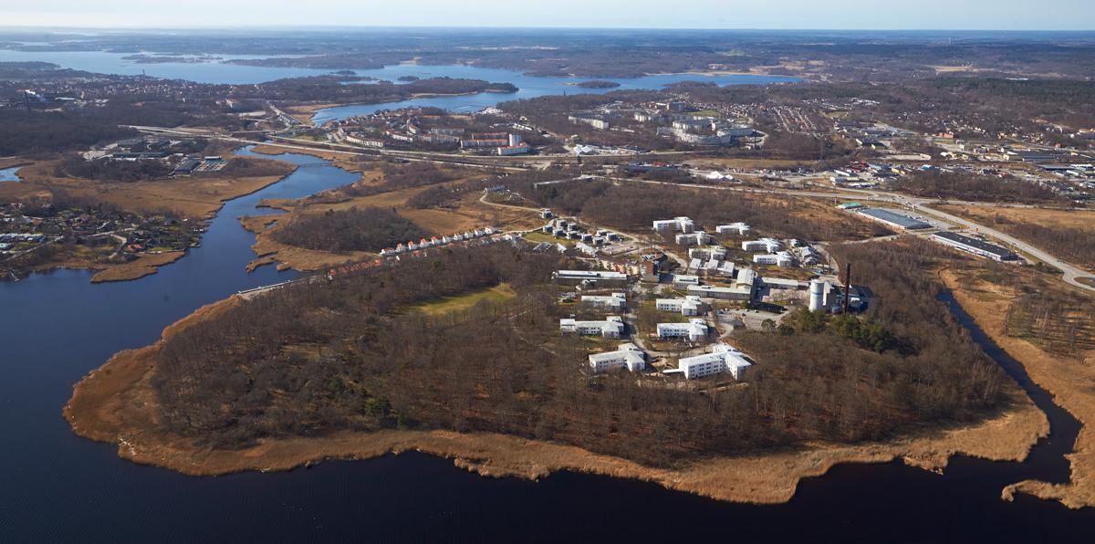 En handfull fastigheter i Gulloberna Park övergår i Samhällsbyggnadsbolagets ägo. Bild: CBRE.