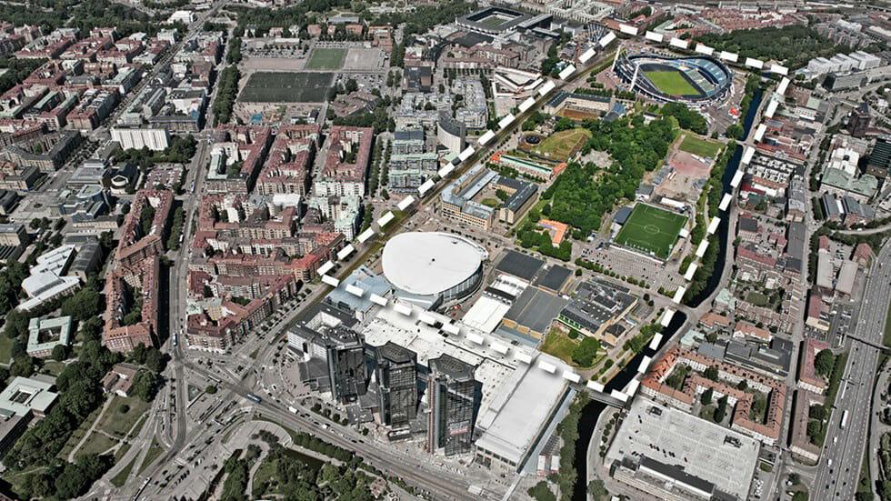 7ad20acfaff588 Göteborgs stad vill utveckla det s kallade evenemangsstråket som finns  mellan Svenska Mässan (Gothia Hotel) och Ullevi. Bild  Göteborgs stad.