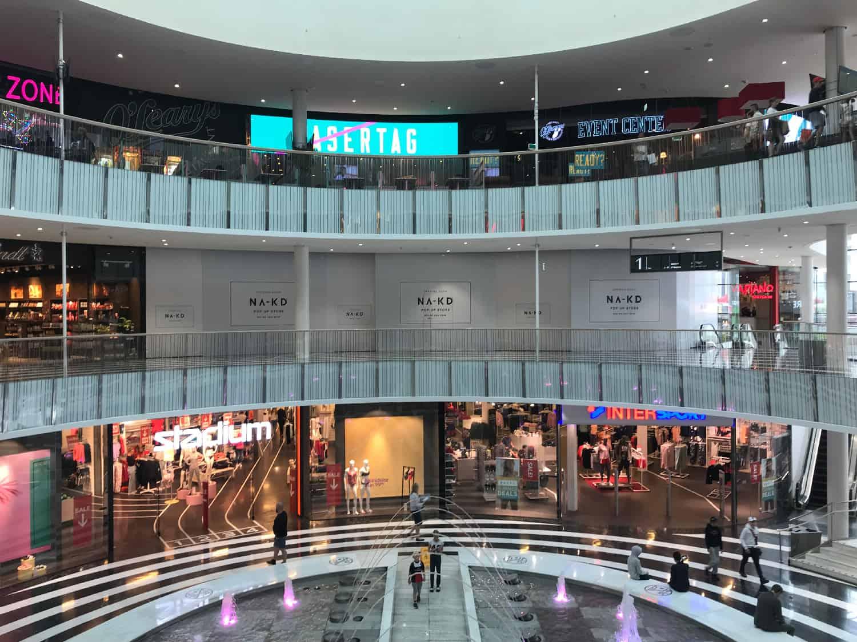 Så här såg det ut i Mall of Scandinavia i slutet av juni 2019.