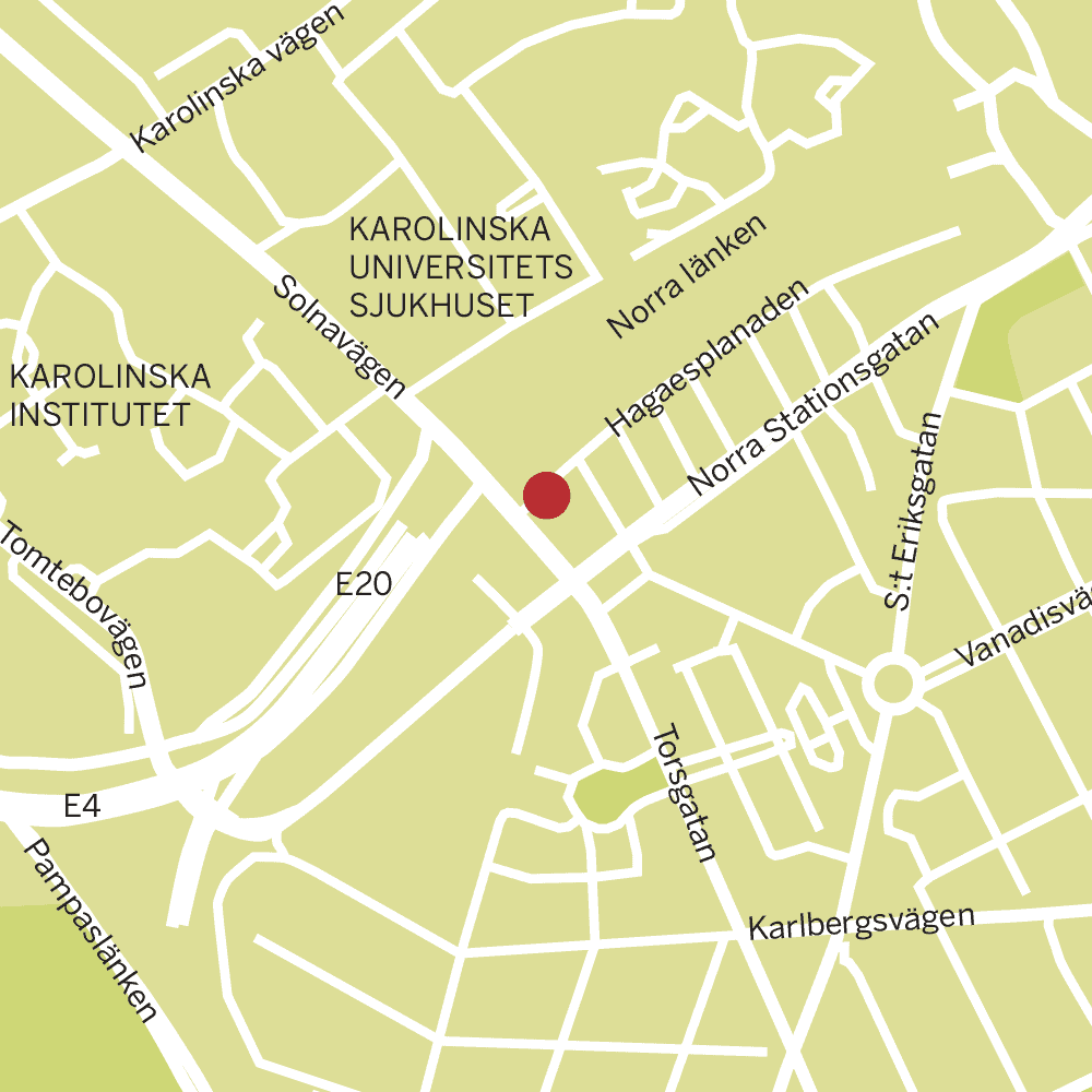 Forskaren markerad på karta