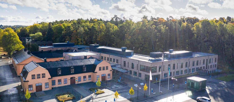 Foto på fasatigheten Kasernen 8, Solna